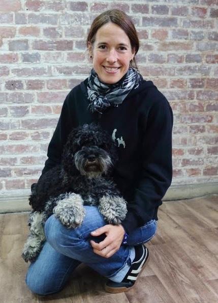 Esther Würz mit Hund